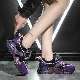 Weweya 2020 Lila Sneakers Frau neue stilvolle Sport Sportschuhe Bequeme High Heels Gehen, Joggen, Rennen Schuh Mädchen 42