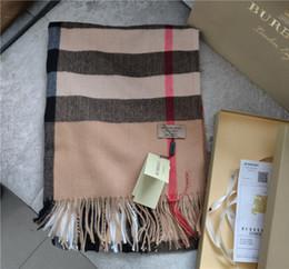 Deutschland Großhandels-Hohe Qualtiy Größe 200x70cm 100% Kaschmir Schal Euro Marke Französisch Design Schal Frauen-Geschenk-Foulards ohne Kasten Versorgung