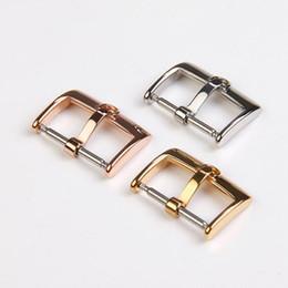 Vol en cuir en Ligne-BONNE Montre accessoires accessoires papillon mouche convexe standard solide en acier inoxydable boucle bracelet en cuir broche 141618 20mm