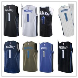 b8a970109ba9 Custom 2019 Orlando Jerseys   1 Mcgrady Jerseys men   WOMEN   YOUTH   Men s  Baseball Jersey Majestic camiseta de baloncesto