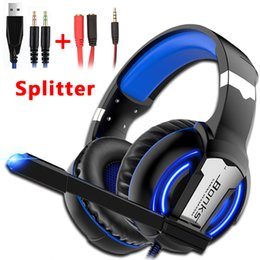 Cableado xbox online-Gaming Headset Gamer Headphones Game Earphones Wired Deep Bass Stereo Casque con micrófono para PS4 Nueva Xbox One Laptop Tablet
