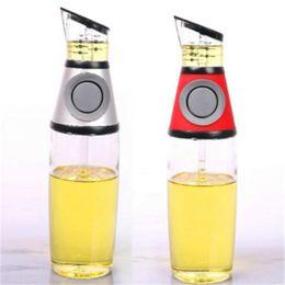 Essig öl topf flaschen online-Presse Öl Pot Messbare Öl Glasflasche mit Skala Leak Prevention Essig-Flaschen Küche Spender Würzen Pot Behälter 11cm H1