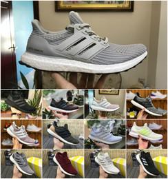 2019 Ultra boost кроссовки 3.0 4.0 мужчины женщины полоса Balck белый Oreo дизайнер кроссовки Ultraboost спортивная обувь кроссовки размер 36-45 от