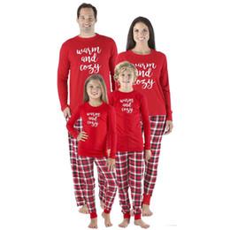 Noël Famille Correspondant Lettre Imprimer Top Pantalon À Carreaux Pyjamas Ensemble De Noël Adultes Hommes Femmes Enfants Vêtements De Nuit ? partir de fabricateur