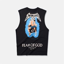 9f7515d02 O medo de deus nevoeiro T-Shirt 3D Verão Mens Manga Curta Tee Tops Harajuku  Bordados Vetements Metallica Tshirt