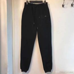 5d92009b2c31 Марка Дизайнер Wei Pants Luxury Мужчины и женщины пара моды хип-хоп черные  свободные брюки качество хлопка повседневная комфорт высокого качества