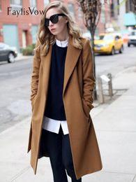 cammello Sconti Cappotto a maniche lunghe con bottoni a maniche lunghe in misto lana Cappotto da donna spesso caldo vintage nero Camel Jacket Trench stile Cocoon Plus Size 5XL
