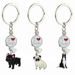 Любовь мальчика девочки кольцо онлайн-39Designs сердце брелки животных брелок я люблю собака кости брелки для женщин мужчины девушки мальчики продвижение мода Pet Шарм брелок ювелирные изделия