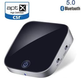 2019 stereo ottico Bluetooth V5.0 CSR Trasmettitore Ricevitore 2 in 1 Adattatore audio stereo wireless con ottica Toslink / SPDIF Aux 3.5mm Supporto aptx stereo ottico economici