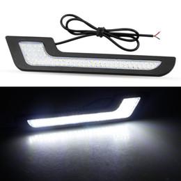 LEADTOPS дневные ходовые огни LED белый свет L-образные полосы 72 SMD стекло объектива с задней наклейкой 12V DRL 6W DIY LED лампа 100% водонепроницаемый supplier diy lens for led от Поставщики diy объектив для led