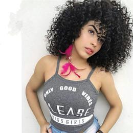 Afro Kinky Curl Tam Dantel Peruk% 100% Hint İnsan Saç Dantel Peruk Dantel Ön Peruk Ücretsiz Nakliye cheap full kinky curl wig nereden tam kinky curl peruk tedarikçiler