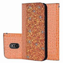 2019 paillettes magnétiques portefeuille crocodile en cuir bling couverture Flip titulaire titulaire de la carte pour iPhone X XS MAX XR 8 SCA549 ? partir de fabricateur
