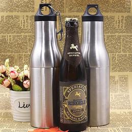 Tazze semplici online-Vacuum Cooler Bottle 12 oz Argenteo Keep Warm Cup Acciaio inox Pratico Durable Simple Sleeve isolante Double Deck tazze CCA11508 10 pezzi