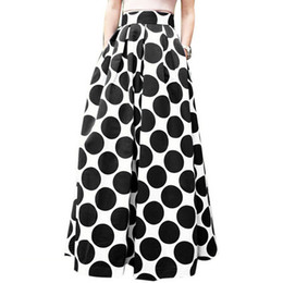 large ball party Coupons - Hxroolrp New 2019 Large size new retro fashion party cocktail women's dot print skirt high waist ladies elegant skirt A1
