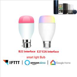 ALexA voz inteligente bombilla LED teléfono móvil WiFi control remoto ahorro de energía atenuación bombilla inteligente casa desde fabricantes
