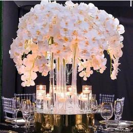Hochzeit dekorationen schmetterlinge online-Verkauf Silk Blumen-künstliche Phalaenopsis Waldhyazinthe 2020Hot für neue Haus-Haus-Hochzeit-Festival-Dekoration