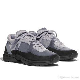 2019 scarpe da ginnastica nylon sneaker da uomo di lusso in pelle di vitello scamosciato di nylon G34360 scarpe pista sneakers in PVC trasparente trasparente donna uomo Scarpe casual Scarpe da corsa US 4-11 scarpe da ginnastica nylon economici