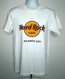 classic rock shirts Promo Codes - Mens Hard Rock Cafe Atlantic City classic logo T shirt small cotton whiteFunny free shipping Unisex Casual Tshirt top