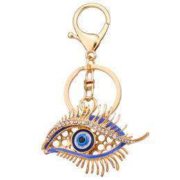 Weihnachten glückliche taschen online-Lucky Eye Kristall Strass Schlüsselanhänger Schlüsselanhänger Halter Handtasche Tasche Für Auto Weihnachtsgeschenk Schlüsselanhänger Schmuck llaveros