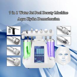 Maquina de poros online-5,6,7 en 1 bio rf martillo frío hidro microdermabrasión agua hidra dermabrasión spa piel facial máquina de limpieza de poros