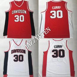 2019 camisa do basquetebol do caril Barato Homens Vintage Charlotte Cavaleiros Cristãos Stephen Curry 30 Camisas De Basquete Da Escola Secundária Davidson Stephen Curry Costurado Camisas camisa do basquetebol do caril barato