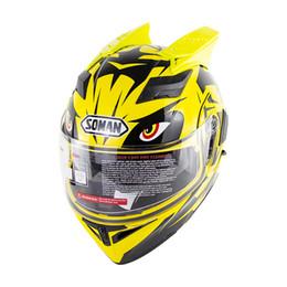 2019 capacete modular para cima DOT Double Sun Viseiras Motocicleta Capacete de cara cheia Motocicleta Modular Flip Up Capacetes Com chifre capacete modular para cima barato