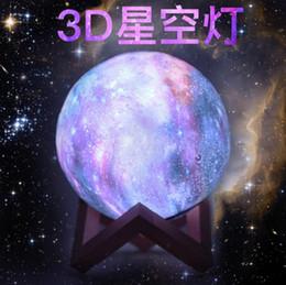 New 3D Printing Starlight Painted Lamp Telecomando 16 colori Creative Moonlight Nightlight Gift da regali ginnastici fornitori