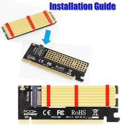 2019 kühlkörperadapter M.2 NVMe SSD NGFF AN PCIE 3.0 X16 / X4-Adapter M Key-Schnittstellenkarte NGFF an PCI-E16-Riser-Karte mit Kühlkörper von DHL rabatt kühlkörperadapter