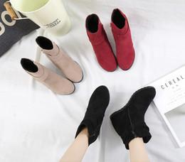 2019 sapatos qiu XWWDVV Martin bota feminina qiu dong novo fundo botas coringa feminina sobe no chão solo aumentar sapato desconto sapatos qiu