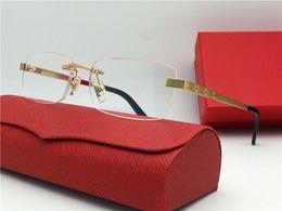 2019 lunettes lindberg Les lunettes les plus vendues sont des montures optiques ultra-légères plaquées or pour monture 18k sans cadre pour hommes style business qualité supérieure avec boîte 3645635