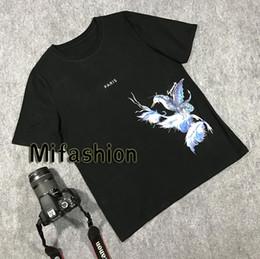 Camisas floridas para homens on-line-Flower Blue Bird Europa França Paris T-shirt dos homens da forma das mulheres T 2020 Verão Luxo Casual Cotton Tee Top