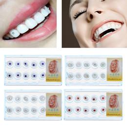 cristal de la joyería del diente Rebajas JAVRICK 10 unids / Caja 2mm Dental Colorido Cristal Diente Joyería de Moda Joya Decoración con Caja Decoraciones Dientes