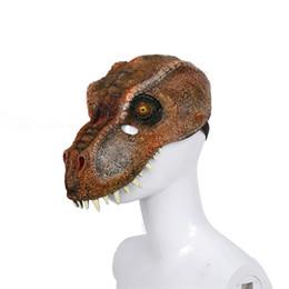 schaum gesichtsmaske Rabatt Halloween Tier Tyrannosaurus Rex Partei Masken Zwei-Farben-3D-PU-Schäumen Full Face Mask Dinosaurier Carnival Supplies 13szE1