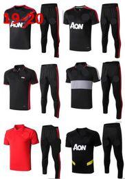 единоличный футбол Скидка 19 20 Манчестерское поло с короткими рукавами, рубашка, брюки United POGBA, тренировочный костюм для футбола 2019 RASHFORD LUKAKU Man Футболка для поло, спортивный костюм