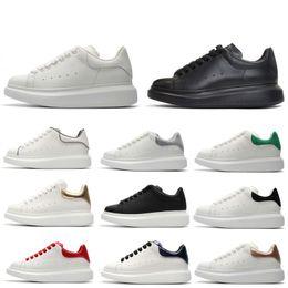 vestir zapatos de ballet Rebajas Diseñador REFLECTIVO Zapatos de plataforma para niña Mujer Hombre blanco negro Zapatos de plataforma de cuero Planos Casual Fiesta Boda Deportes tamaño 36-44