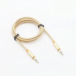 Canada ITUF 1m Date Cable Car AUX pour Smart Phone 3.5mm mâle à mâle stéréo câble audio plat 3.5 jack à jack casque haut-parleur Offre