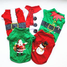 traje de urso cão Desconto Cão bonito de roupas roupas de Natal trajes de algodão T-shirt clássicos Teddy Bears Pomeranian Natal do filhote de cachorro 5 cores