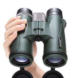 telescopio de binoculares de alta potencia Rebajas USCAMEL Prismáticos 10x42 Militar HD de alta potencia telescopio profesional caza al aire libre, verde del ejército T191014