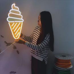 Letra personalizada levada sinal on-line-Venda quente personalizado rua e supermercado levou carta exibição sinais de néon dos desenhos animados sorvete RGB luz de neon