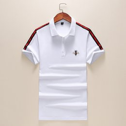 1fed874928 19SS New season Designer Polo Shirts Men Bee embroidery Mens Designer T Shirts  Modern Black and white Lapel Designer Shirts