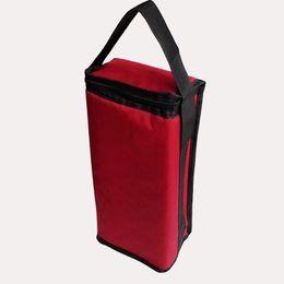 Bolsa termo online-vino tinto aislado bolso más fresco portador fresco individuales dobles botellas térmicas bebidas frescas paquete de bolsa de hielo termo bolsa de soporte con SH190923 correa