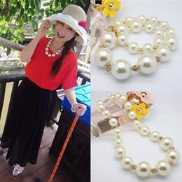 koreanische perlen halskette Rabatt Neue koreanische Art- und Weiseelegante Berühmtheits-Frauen-große weiße große Perlen-Perlen-Halsketten-Ketten-Stück-große Perlen-Schlüsselbein-Ketten-kurze Braut-Zusätze
