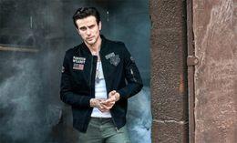 мужская весенняя длинная шерсть Скидка Весенняя мода The Pilot Мужские куртки Воротник с длинным рукавом Мужское пальто