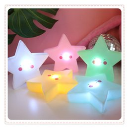 projetores de vela Desconto Estrela bonito Sorriso Rosto Macio Vinil LED Night Light Toy para o Bebê Crianças Quarto Decoração de Casa Lâmpada Do Berçário