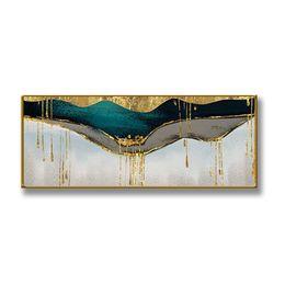 Pinturas a óleo originais modernas on-line-Presente original pop modern gilding Handmade pinturas a óleo da lona abstrata pendurado arte da parede home decor para sala de estar decoração de casa sem moldura