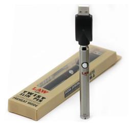 Lei Pré-aqueça Bateria Blister Kit com Torção Inferior 380mAh Pré-aquecimento O Pen Bud Toque Vape Vaporizador de Voltagem Variável para Grossa Cartucho Óleo de Fornecedores de preto melhor mod vape