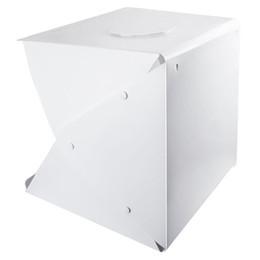 Portable Photo Studio Tente de prise de vue, 16 pouces LED Petit Pliable Boîte Softbox Kit avec 4 couleurs Toiles de fond pour Photographie, Bu ? partir de fabricateur