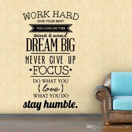 Gli adesivi murali delle regole di casa online-Famiglia inglese / regole della casa / citazioni / dicendo Dream Big Inspiration Quote Wall Stickers, fai da te Home Decoration Wall Art Decor Decal