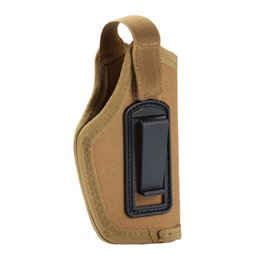 pistola accessori Sconti Nylon CS Field Invisible Tactical Small Holster Tactical Compact / Subcompact Pistol Holster Waist Case Accessorio per la caccia