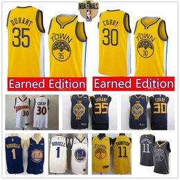 maglia klay thompson Sconti Maglia NCAA Steph Stephen 30 Curry 5 da uomo Golden 1 Russell State 2 Kevin 35 Durant 3 Warrior 4 Klay 11 Thompson basketball jersey 01